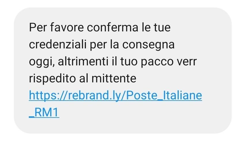 """Codici: il """"pacco"""" in un SMS, occhio al finto messaggio di Poste Italiane"""